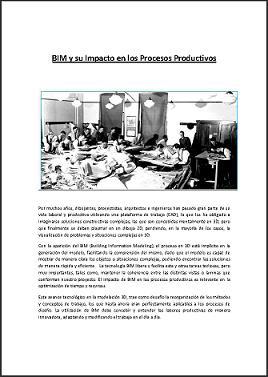 BIM y su Impacto en los Procesos Productivos