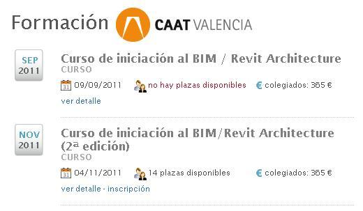 Cursos BIM/Revit CAAT Valencia